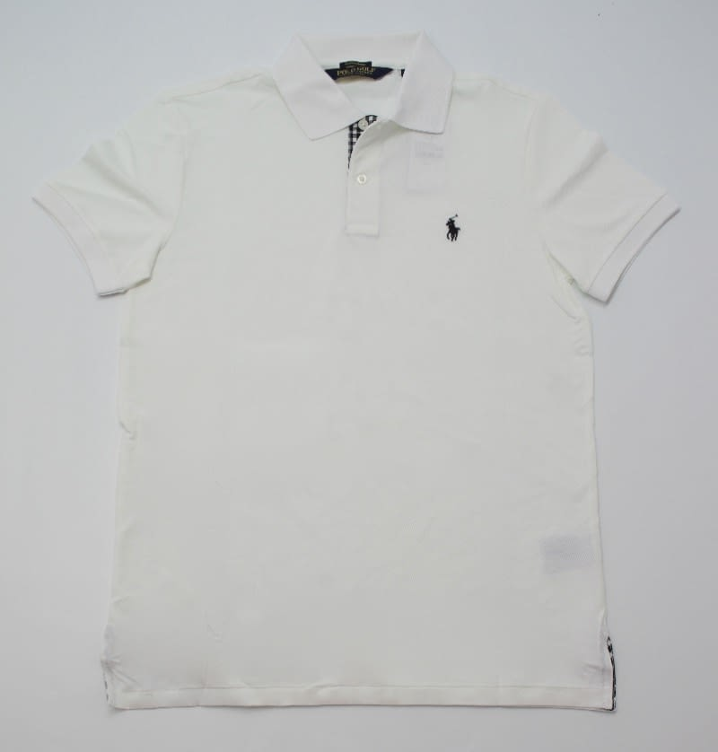Ralph Lauren Check Trim Polo in White