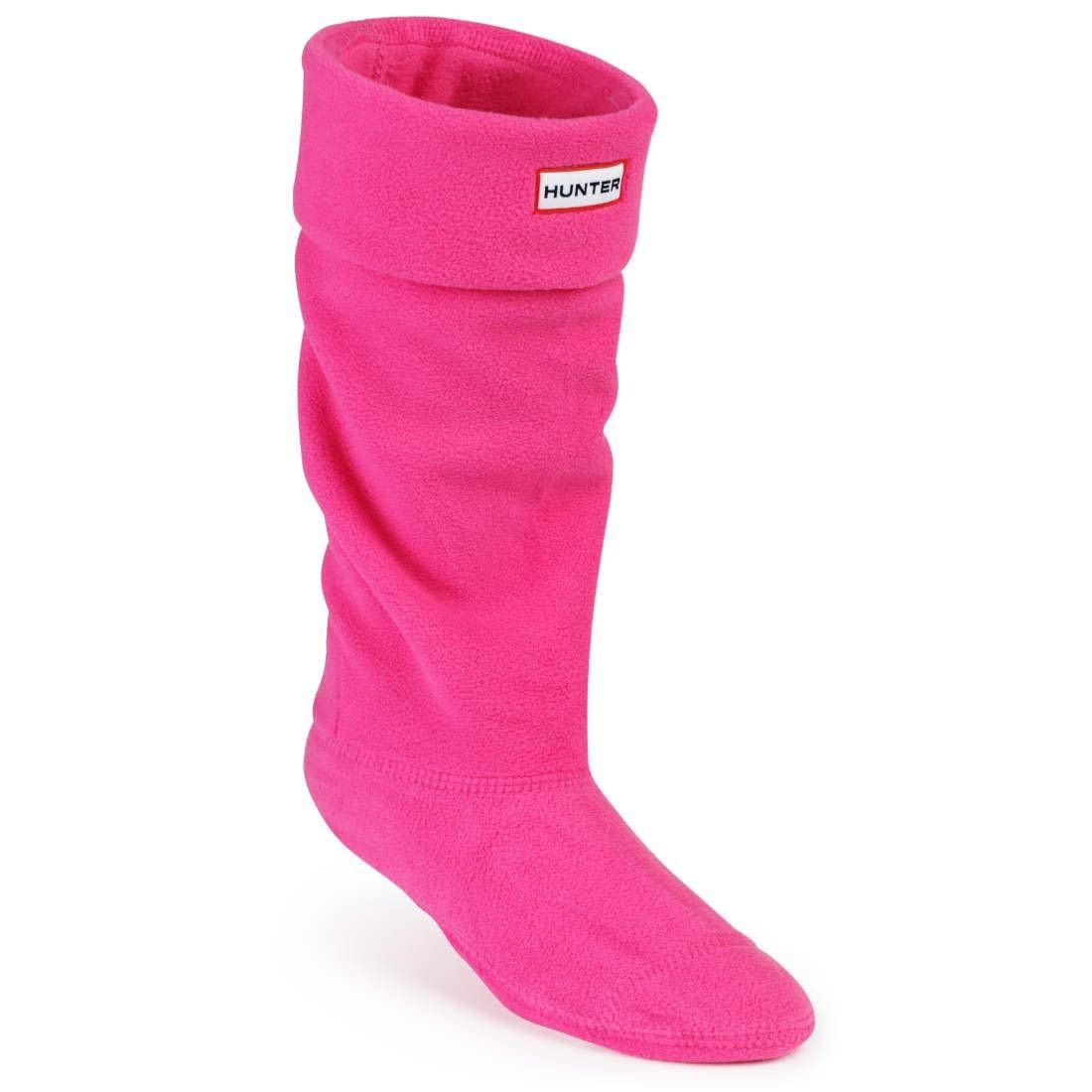Hunter Ladies Fleece Welly Socks Fuchsia