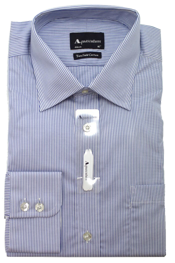 Aquascutum Beaufort Shirt in Blue Stripe
