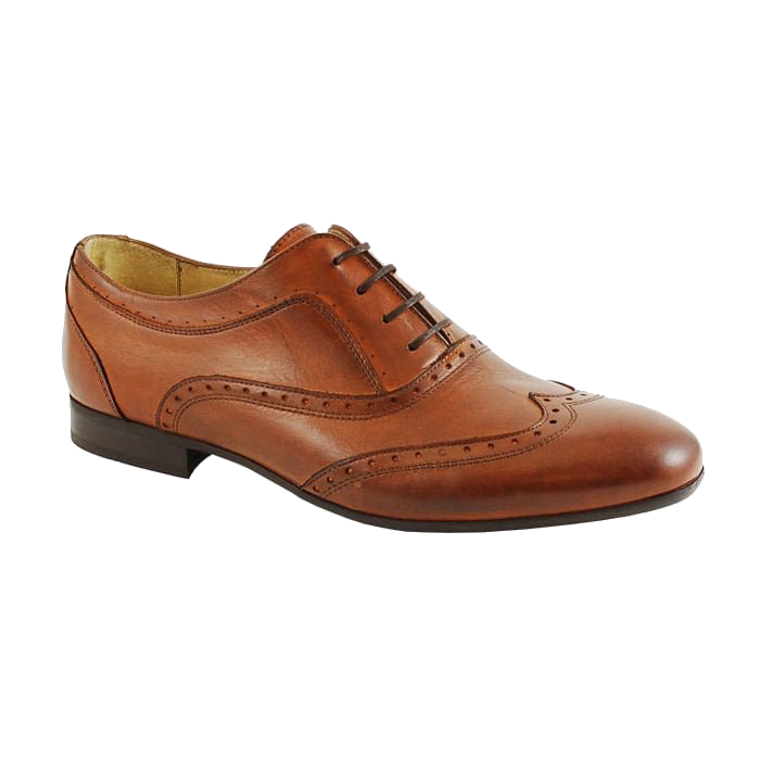 Hudson Francis Brogue in Tan Calf