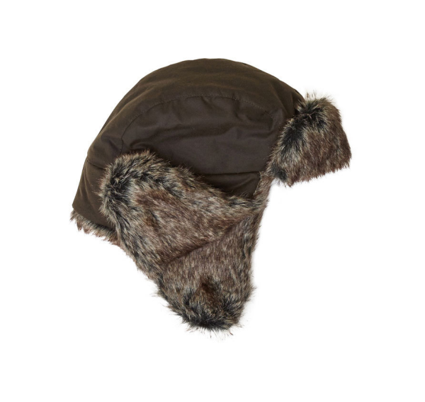 Barbour Wax Grasmere Trapper Hat in Brown
