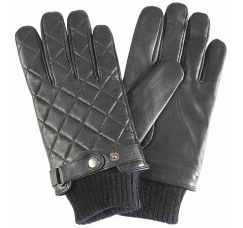 Barbour Quilted Gloves in Black