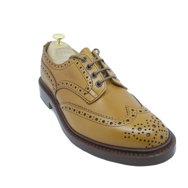 Tricker's Bourton Brogue in Acorn Antique
