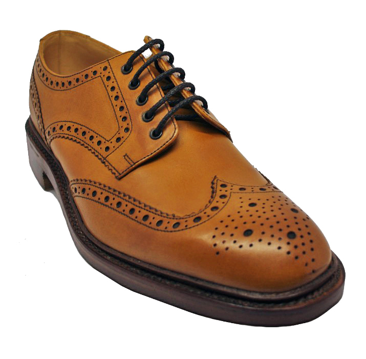 Loake Chester Brogue Shoe in Tan
