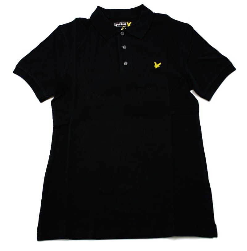 Lyle & Scott Classic Plain Pique Polo Shirt in Black