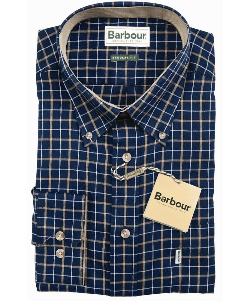 Barbour Bank Check Shirt in Navy