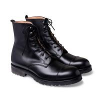 Joseph Cheaney Trafalgar Capped Derby Boot in Black