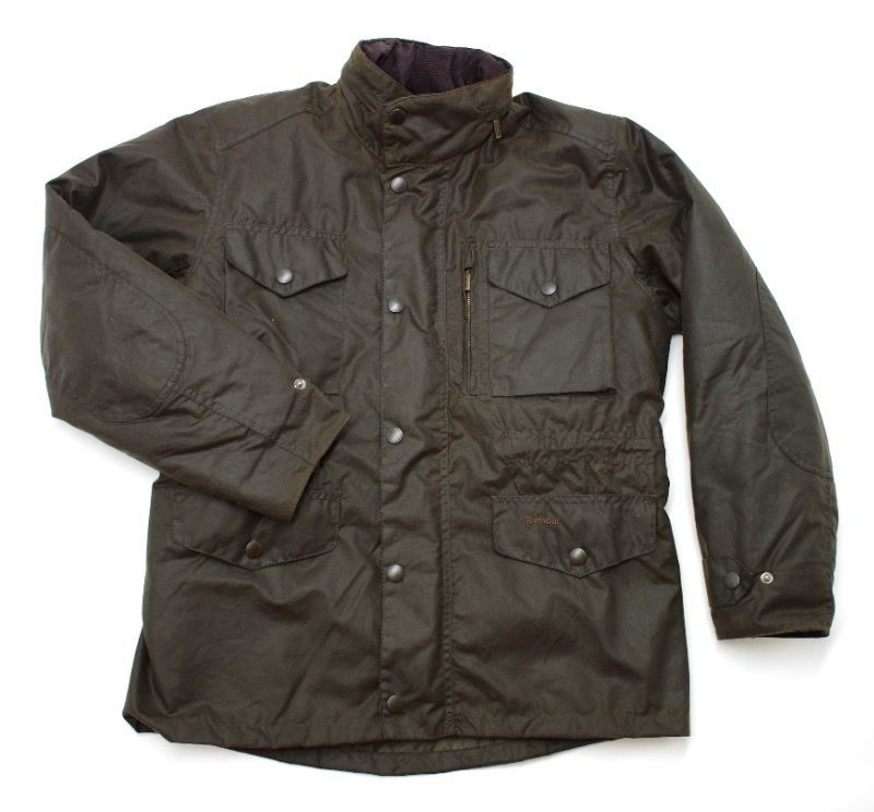 Barbour Sapper Waxed Jacket in Olive