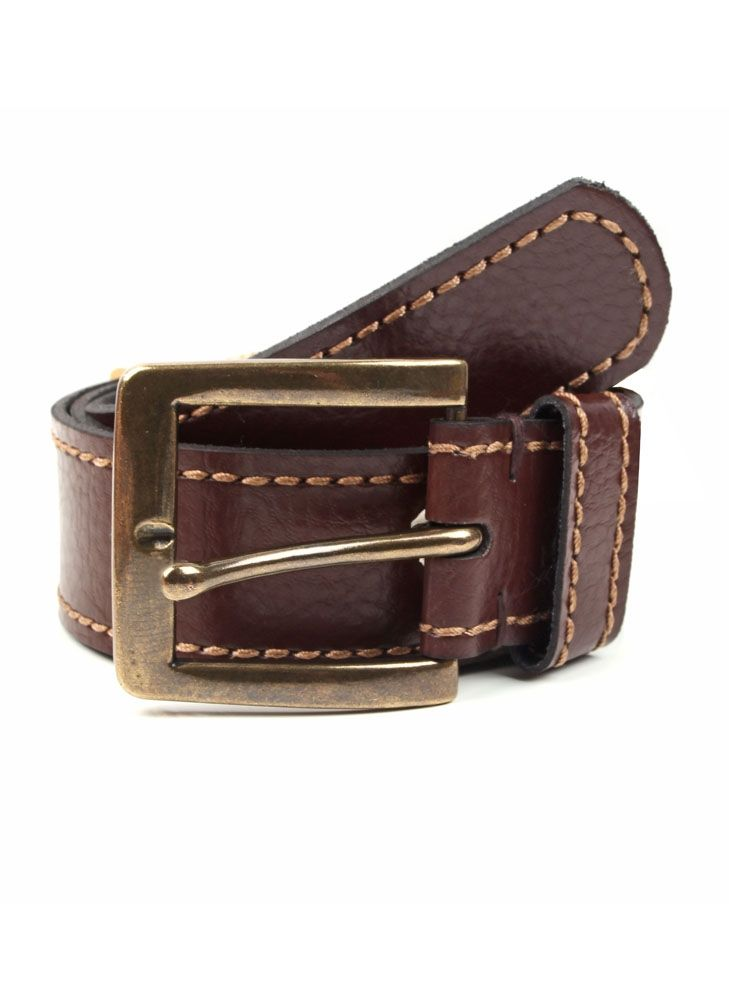 Dents Single Keeper Casual Leather Belt In Brown
