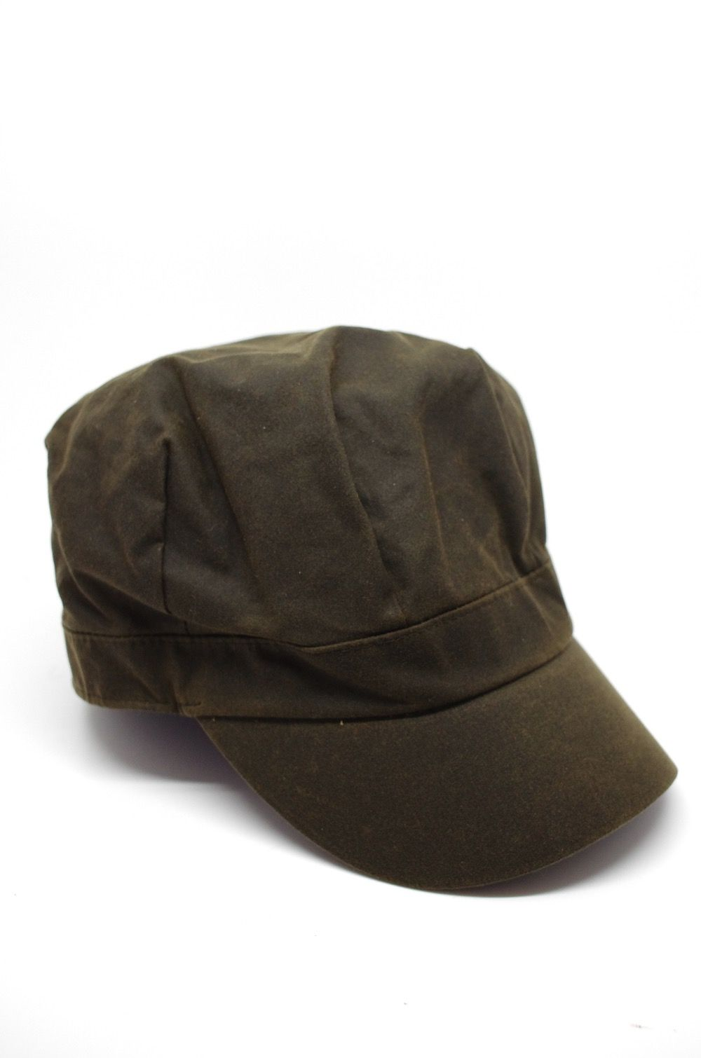 Barbour Ladies Waxed Baker Boy Hat in Olive