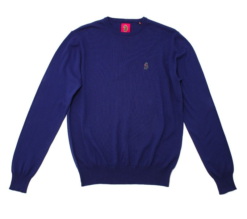 Luke Gerards Crew Neck Jumper in Navy