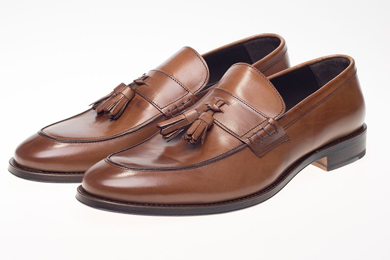 John White Charles Tassel Loafers In Brown