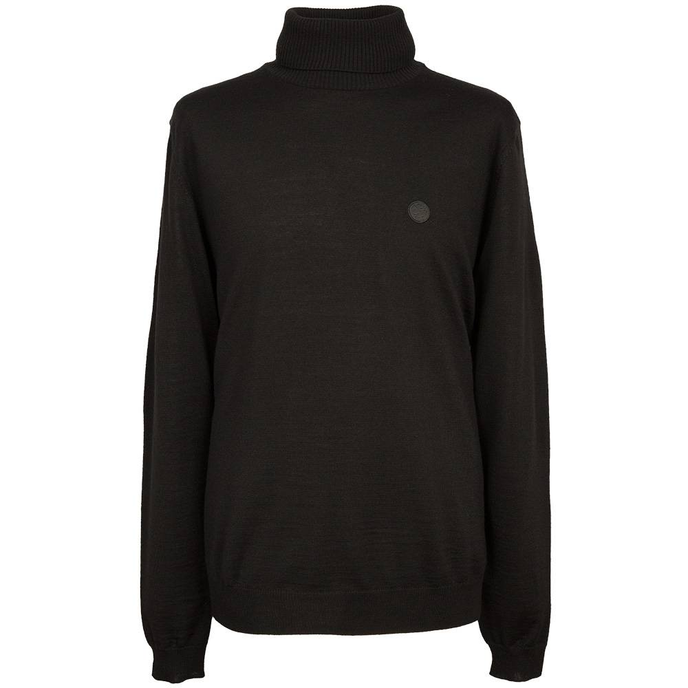 Pretty Green Harley Roll Neck Sweater In Black