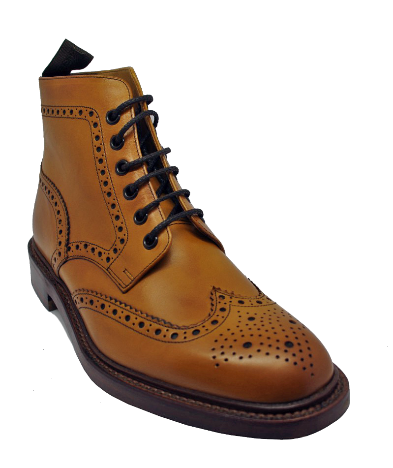 Loake Burford Brogue Boot in Tan.jpg