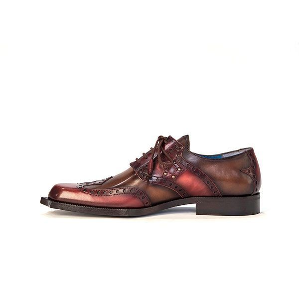 Twisk Rogue Derby Shoe in Brushed Brown And Red.jpg