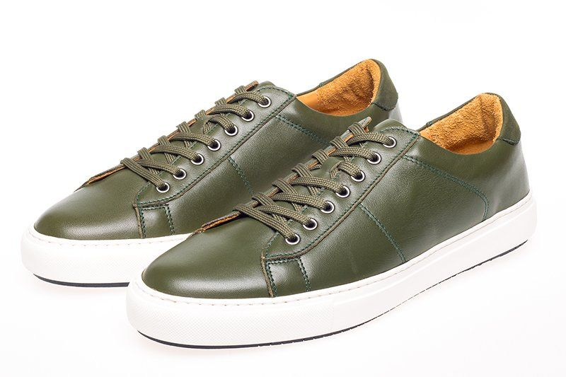 John White Bari Sneakers In Green.jpeg