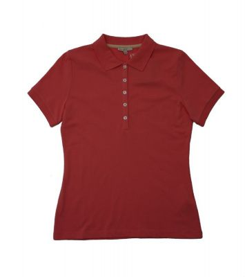Barbour 5 Button Polo Shirt in Camelia