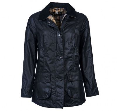 Barbour Beadnell Wax Jacket in Navy