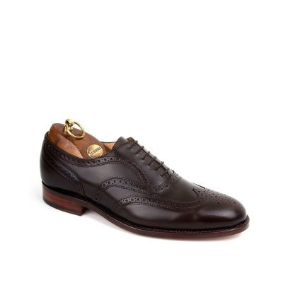 Sanders London Brogue Oxford Shoe in Ebony