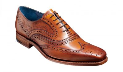Barker McClean Brogue in Antique Rosewood Paisley
