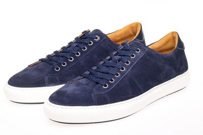 John White Bari Suede Sneakers In Navy