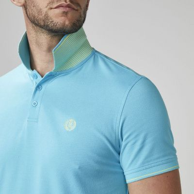 Henri Lloyd Abington Regular Polo in Cyan