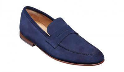 Barker Ledley Loafer in Pacific Blue Suede