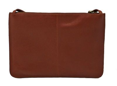 Barbour Tartan Leather Clutch Bag In Brown
