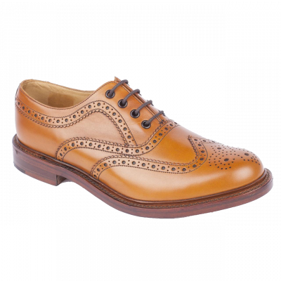 Loake Ashby Heavy Country Brogue in Tan Calf