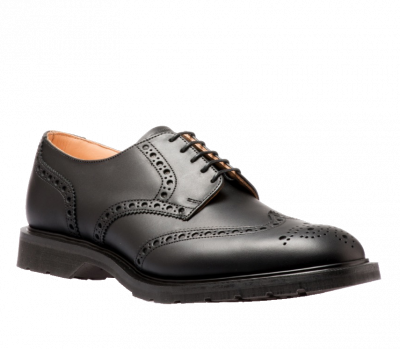 Solovair 5 Eye Gibson Brogue in Black