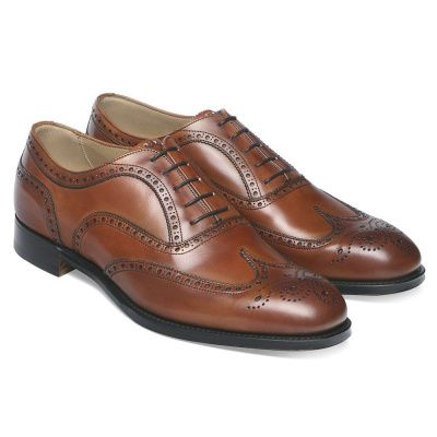 Joseph Cheaney Arthur III Brogue In Dark Leaf Calf Leather