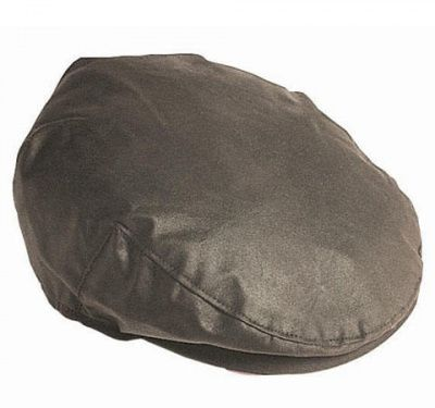 Barbour Wax Flat Cap in Olive