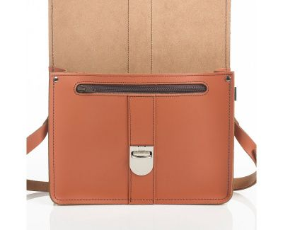 Zatchels Stanford Shoulder Bag In Burnt Orange