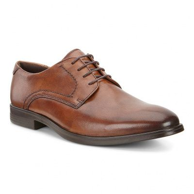 ECCO Melbourne Amber The Natural Derby Shoe in Brown