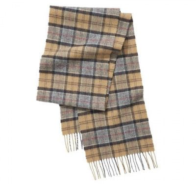 Barbour Unisex Tartan Lambswool Scarf in Dress Tartan