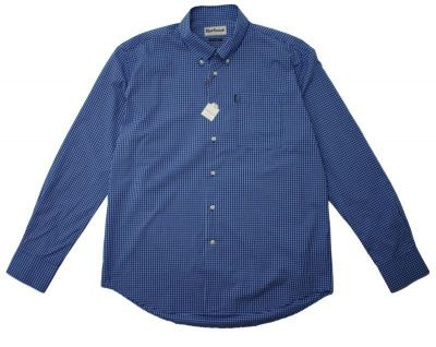 Barbour Leonard Gingham Checked Shirt in Navy