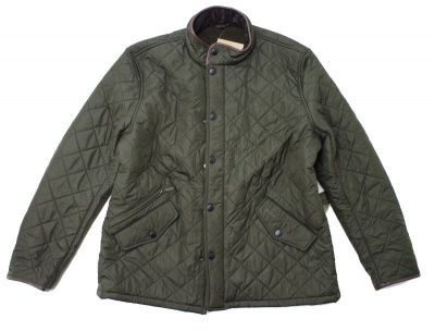 Barbour Powell Quilted Jacket in Olive