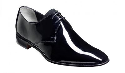 Barker Goldington Derby Shoe in Black Patent Leather