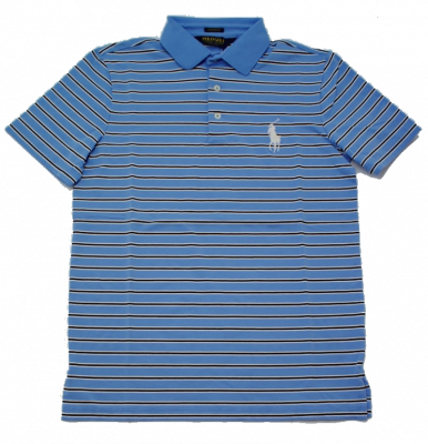 Ralph Lauren Pro Fit Polo in Sterling Blue Stripes