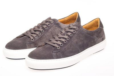 John White Bari Suede Sneakers In Grey