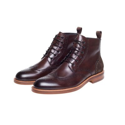 John White Midland Brogue Boot in Brown