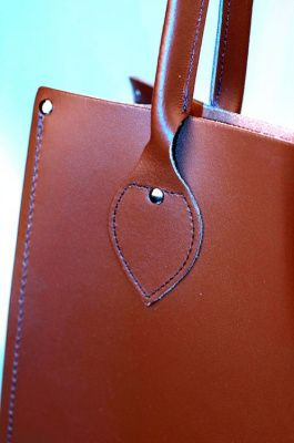 Zatchels Classic Leather Tote Bag in Chestnut