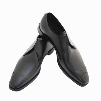 Joseph Cheaney Hardy Derby Shoes in Black