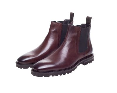 John White Cardiff Chelsea Boots In Brown