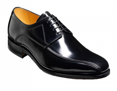 Barker Newbury Derby Lace Up Big Shoe in Black