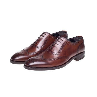 John White Duke Oxford Brogues in Brown