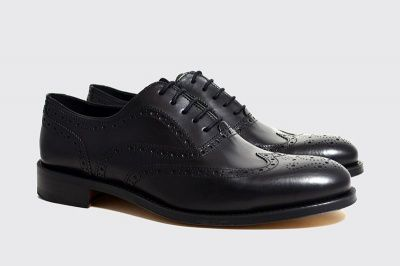 John White Templeton Calf Brogues in Black