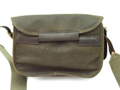Barbour Waxed Cotton and Leather Cartridge Bag in Olive
