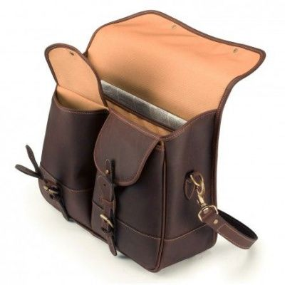 Tusting Clipper Leather Satchel In Sundance Floodlight