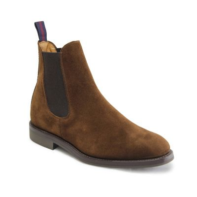 Sanders Liam Chelsea Boot in Polo Snuff Suede